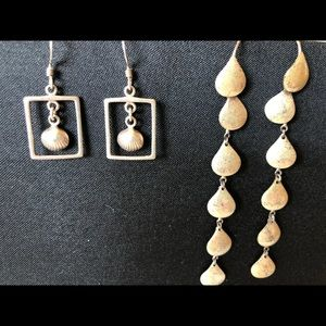Jewelry - Two sets of sterling silver earrings